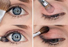 Návod: Jemné líčenie očí pre modrooké blondínky hotové za minútku! via @akademiakrasy