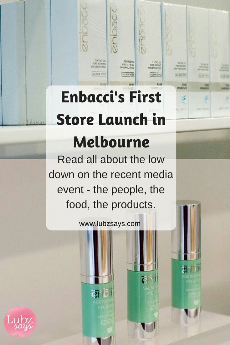 New blog post out on Australian skincare brand Enbacci's first store launch at High Street, Prahran.  www.lubzsays.com
