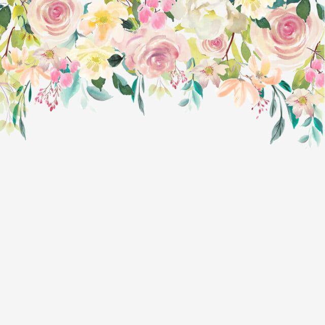 Cvetochnye Kapli Akvareli Akvarel Cvetochnyj Cvetok Png I Vektor Png Dlya Besplatnoj Zagruzki In 2020 Floral Watercolor Flowers