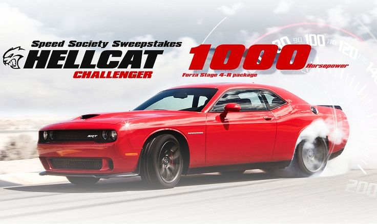 Enter in 2015 Dodge Challenger Hellcat Giveaway for a chance to win most powerful 2015 Dodge Challenger Hellcat with $50,000 Cash Option. #Sweepstakes, #Big, #Prize, #Cash, #Win, #Car