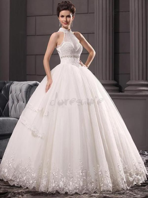 Doresuwe.com SUPPLIES 2016新品 襟付き 真珠飾り のオフショルダー 綺麗目 結婚式ドレス 花嫁ドレス ウェディングドレス ウェディングドレス-2016