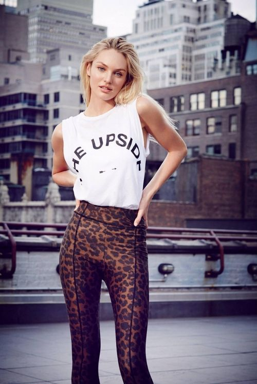 A monochrome graphic sleeveless top and brown leopard leggings are a great outfit formula to have in your arsenal.   Shop this look on Lookastic: https://lookastic.com/women/looks/white-and-black-print-sleeveless-top-brown-leopard-leggings/1121   — White and Black Print Sleeveless Top  — Brown Leopard Leggings