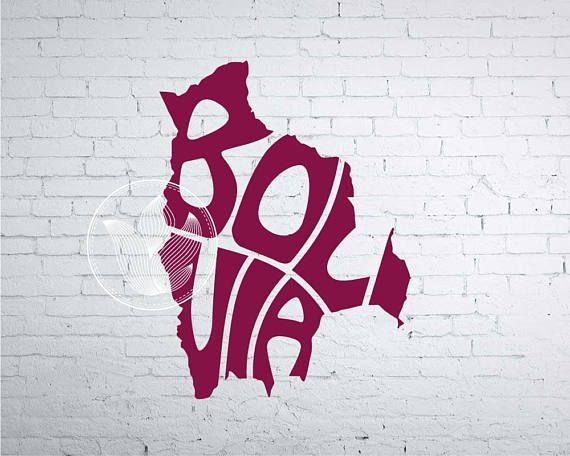 Digital Bolivia Word Art Bolivia jpg png eps svg dxf