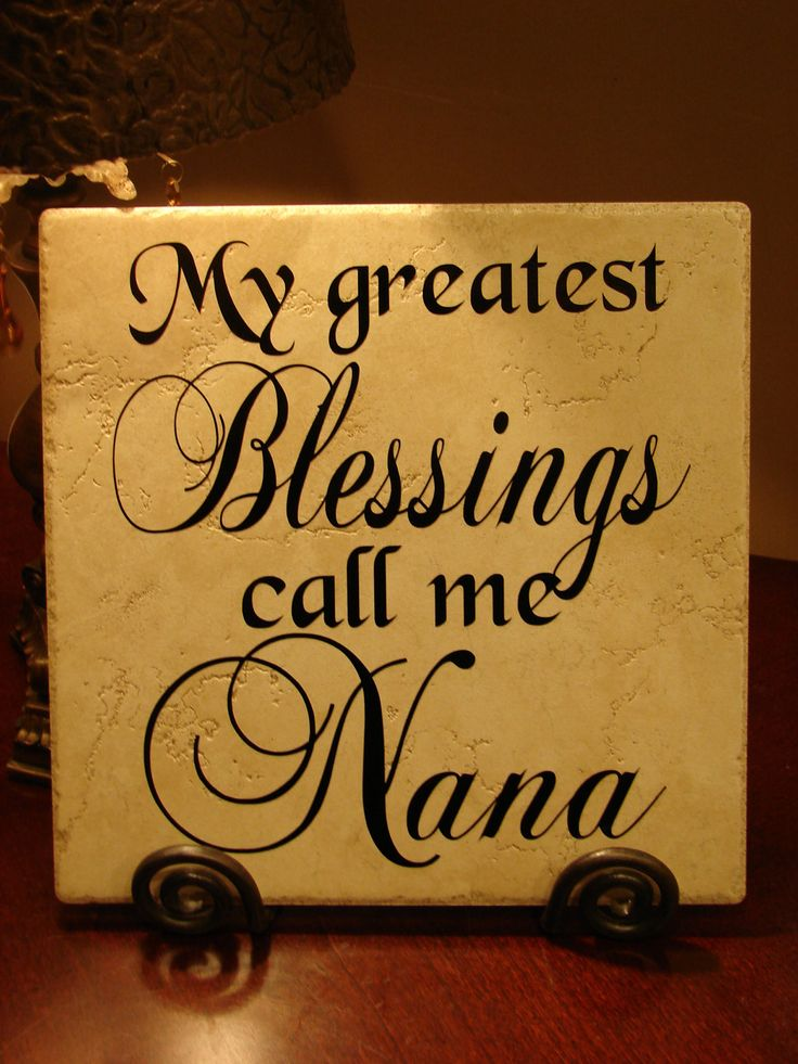 Quotes for Nana | My Greatest Blessings Call Me Nana Decorative by MonogramPerfect