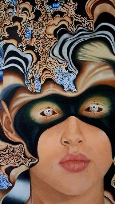 "Carla Bresciano, oil on canvas ""Twitter"""
