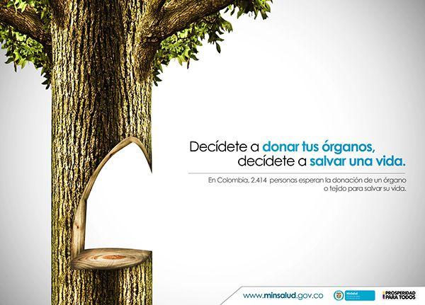 Anunciante: Ministerio de la salud y la protección social (Colombia) Producto: Donación de órganos Septiembre de 2014  www.behance.net/darktensei