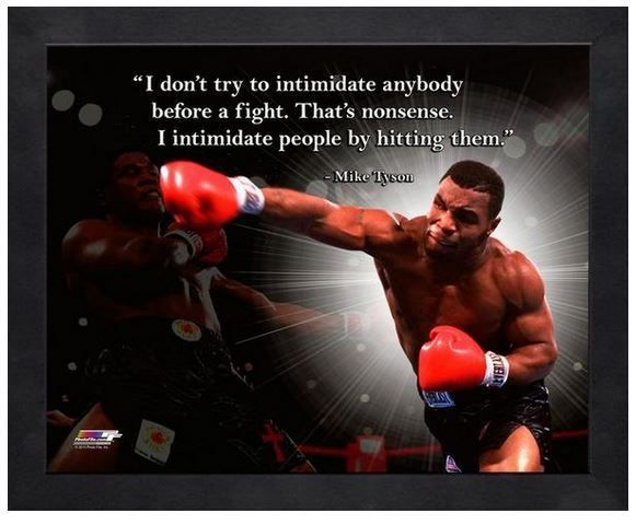 """Mike """"Iron Mike"""" Tyson - 11"""" x 1 4"""" Framed """"Pro Quotes"""""""