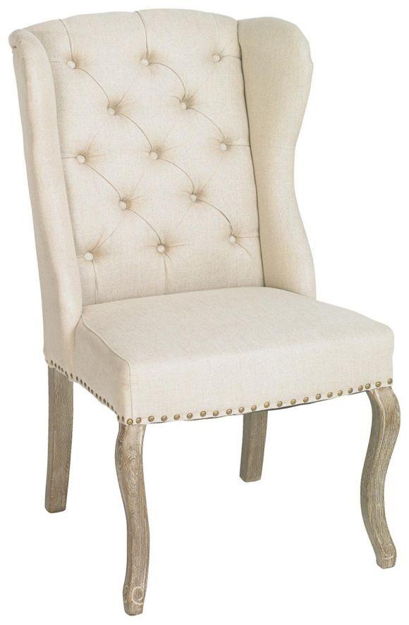 Toto křeslo nadchne klasickým vzhledem. Lněný potah béžové barvy je díky povrchu z linonu obzvlášť měkký. Zakřivené nohy z masivního dubu, dekorační knoflíky na opěradle zad a nýty podtrhují barokní styl. Díky vysoké kvalitě pravého dřeva má křeslo nosnost do 120 kg. Díky pásovému pružení a pěnovému čalounění budete sedět pohodlně při čtení, odpočinku či dívání na film. Toto křeslo od LANDSCAPE zkompletuje Váš klasický styl zařízení!