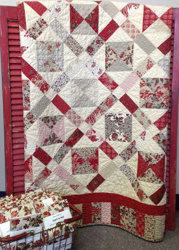 French General fabrics Petite Four Quilt Kit by myreddoordesigns,