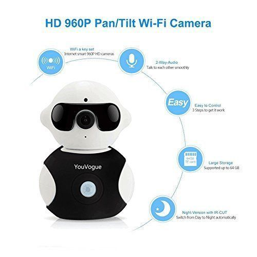 Wireless Camera Baby Monitor WiFi Video Security Night Vision Remote IP Camera #WirelessCameraBabyMonitor