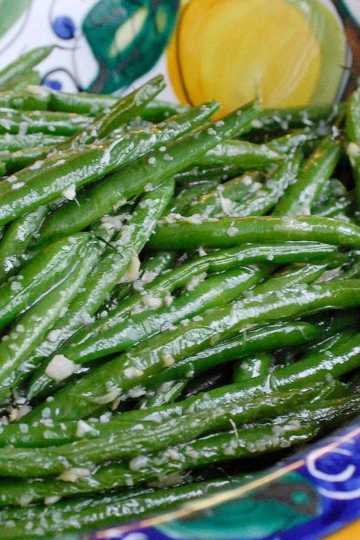Here is a recipe for fresh string beans, boiled just until barely tender and bright green, then tossed in a pan with minced garlic and ginger. The beans can be cooked a day ahead, leaving nothing more to do before the meal than to assemble everything over high heat. (Photo: Evan Sung for The New York Times)