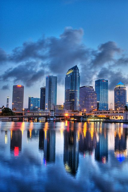 Downtown Tampa HDR Reflected Vertical by Photomatt28, via Flickr Florida