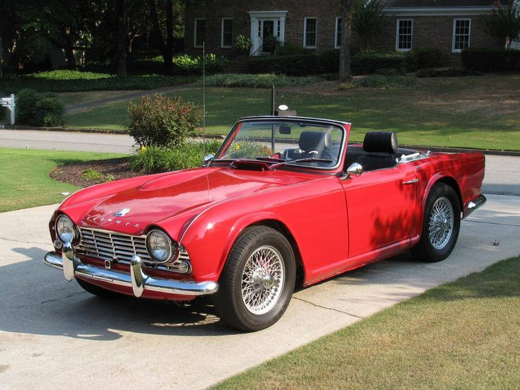 1964 tr4 -  This was my first car, the seller parked it in front of the station where I was pumping gas and I fell in love. It took me the rest of the summer to pay for it but what a cool summer it was.