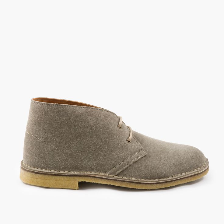 Desert Boots with Handmade Crepe Rubber Sole - Taupe