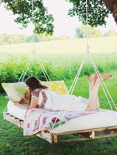 DIY Hammock, only id use a twin bed and add some extra space on the ...