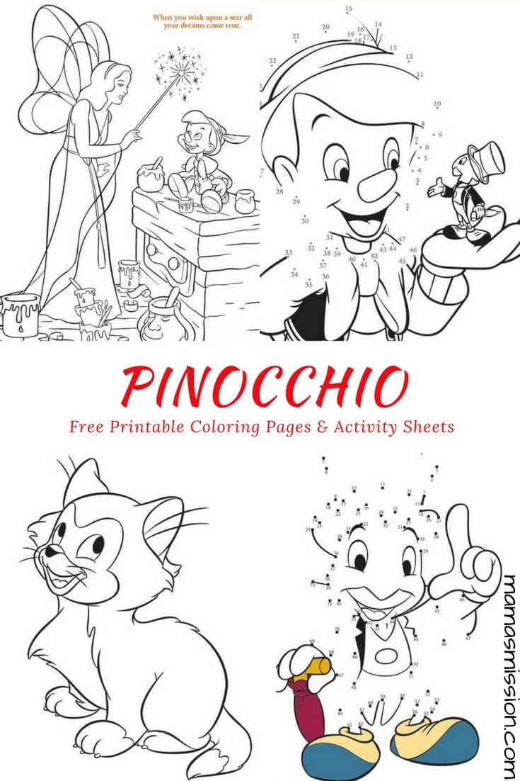 Free printable coloring pages veterinarians -  Free Printable Pinocchio Coloring Pages And Activity Sheets If You Could Wish Upon A Star What Would You Wish For Make Your