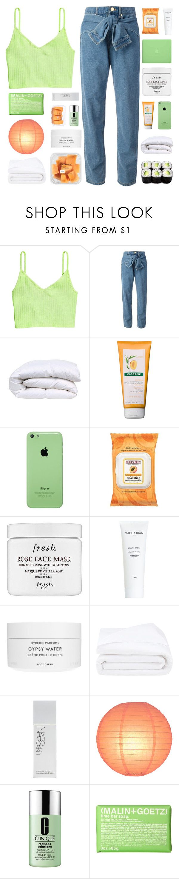 """""""A G N O S C O"""" by naturitve ❤ liked on Polyvore featuring DKNY, Klorane, MAC Cosmetics, Burt's Bees, Fresh, J.Crew, Byredo, Frette, NARS Cosmetics and Clinique"""