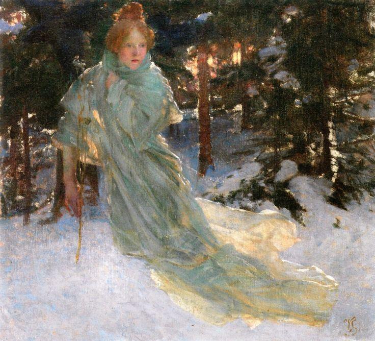 The Athenaeum - Study for Winter (Vojtěch Hynais - )