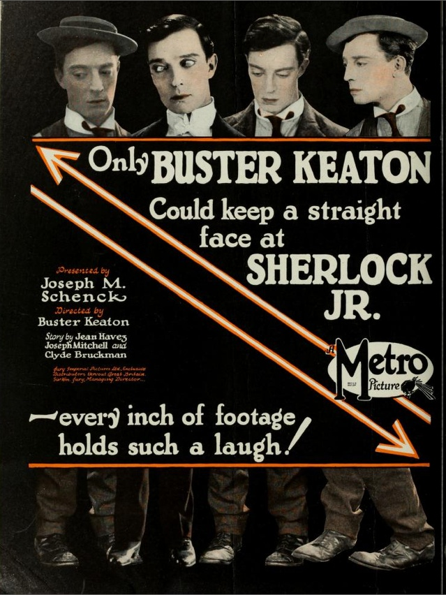 "Tradepaper advertisement for ""Sherlock Jr."""