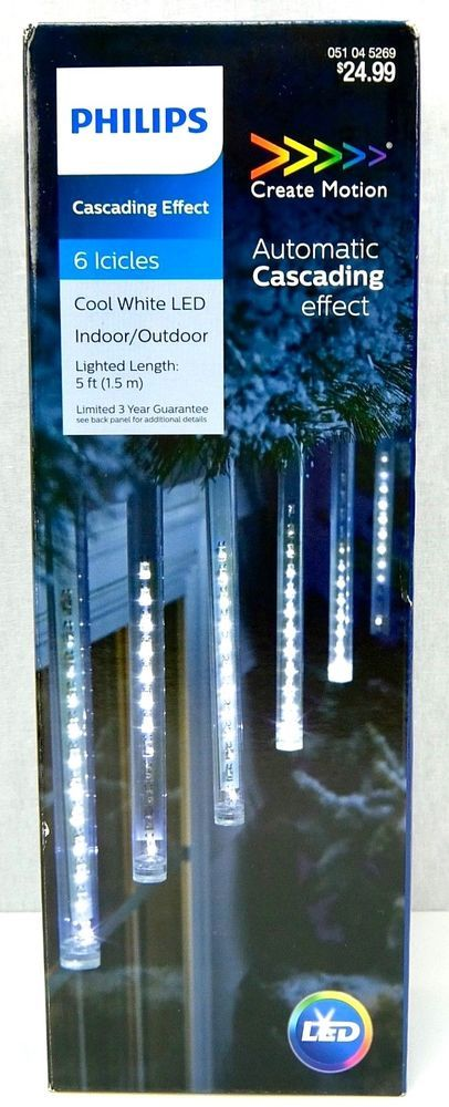 Philips Cool White Led Cascading Icicles Indoor Outdoor Christmas