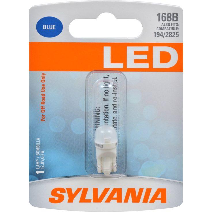 SYLVANIA LED 168 W5W 194 2825 Blue Automotive Bulb - also fits 194 & 2825