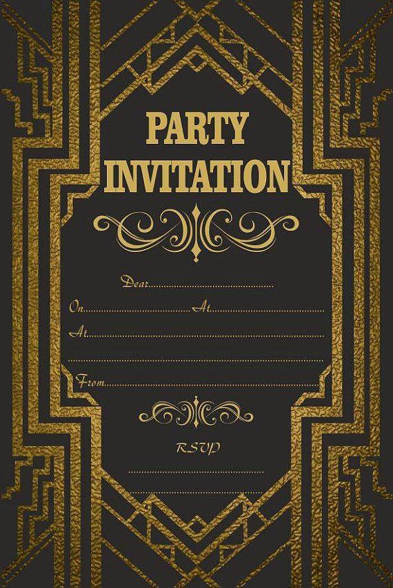 10 x gran Gatsby cumpleaños invitaciones por ABVdesigncompany