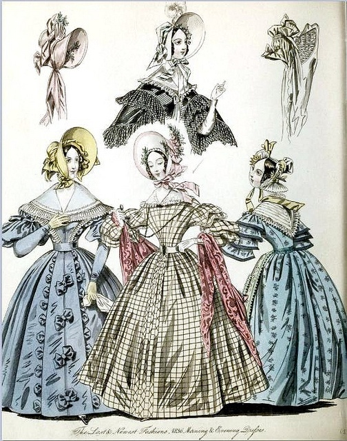 The World of Fashion and Continental Feuilletons 1836 Plate 25 by CharmaineZoe, via Flickr