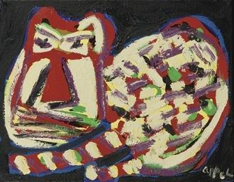 Karel Appel (DUTCH, 1921-2006) | Red cat | Impressionist & Modern Art Auction | 1980s, Paintings | Christie's