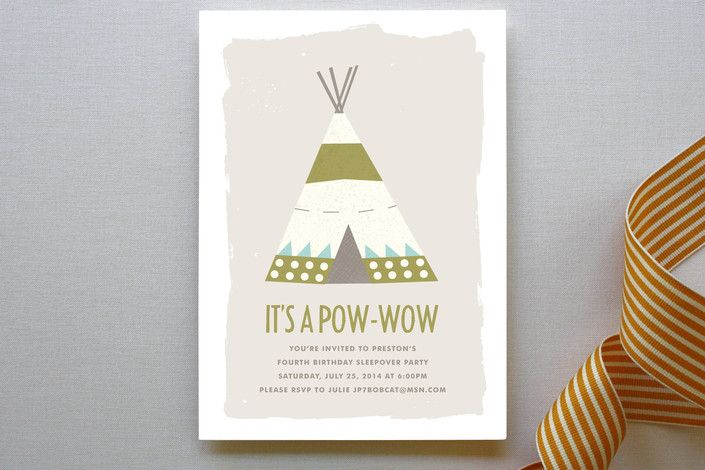 Pow-Wow Children's Birthday Party by Paper and Par... | Minted