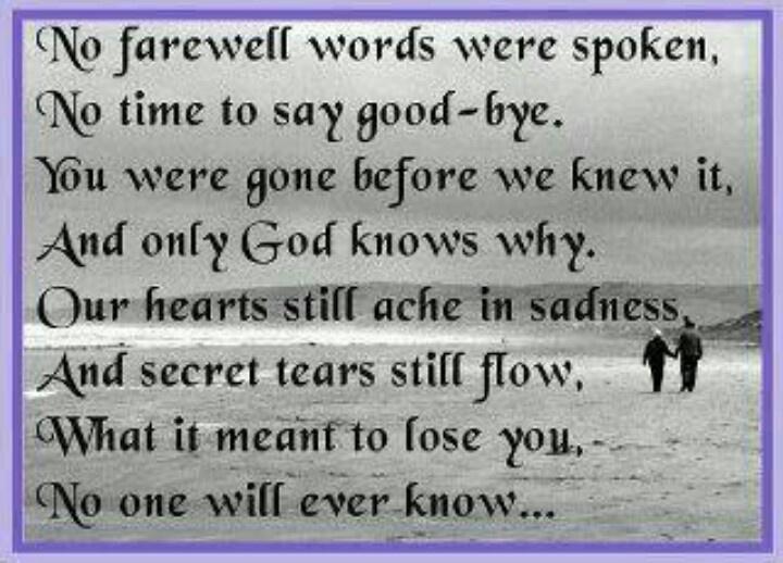 In Loving Memory Of My Mom