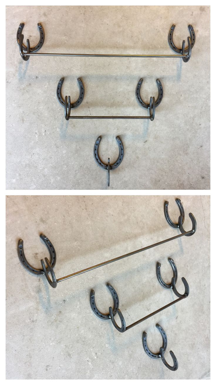 Horseshoe arts and crafts - Welded Horseshoe Art Bathroom Towel Racks Or Kitchen Towel Holder