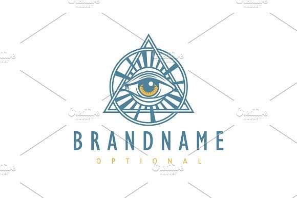 For sale. Only $29 - providence, eye, God, divine, triangle, circle, holy, vision, light, pyramid, seal, Freemason, Illuminati, illumination, burst, sight, sacred, guidance, sentinel, security, trinity, secret, omniscience, sun, ancient, artistic, creative, masonic, money, logo, design, template,