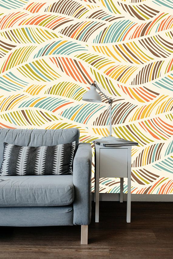 Abstract Pattern Removable Wallpaper Mural Peel Stick Or Etsy Removable Wallpaper Prepasted Wallpaper Cleaning Walls