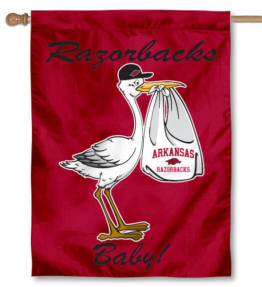 Arkansas Razorbacks New Baby Banner