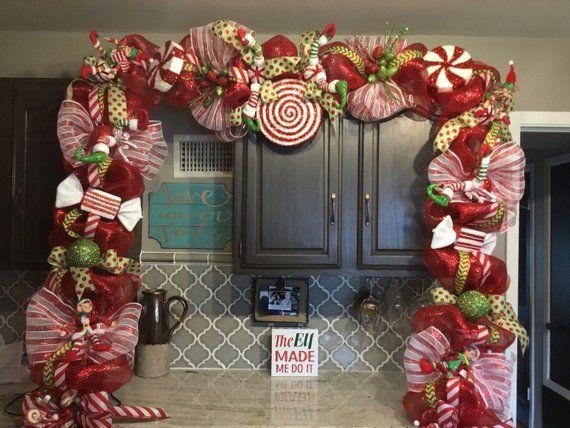 Christmas Swag Christmas Door Garland Christmas Decorations Etsy Christmas Garland Christmas Mantel Garland Christmas Swags