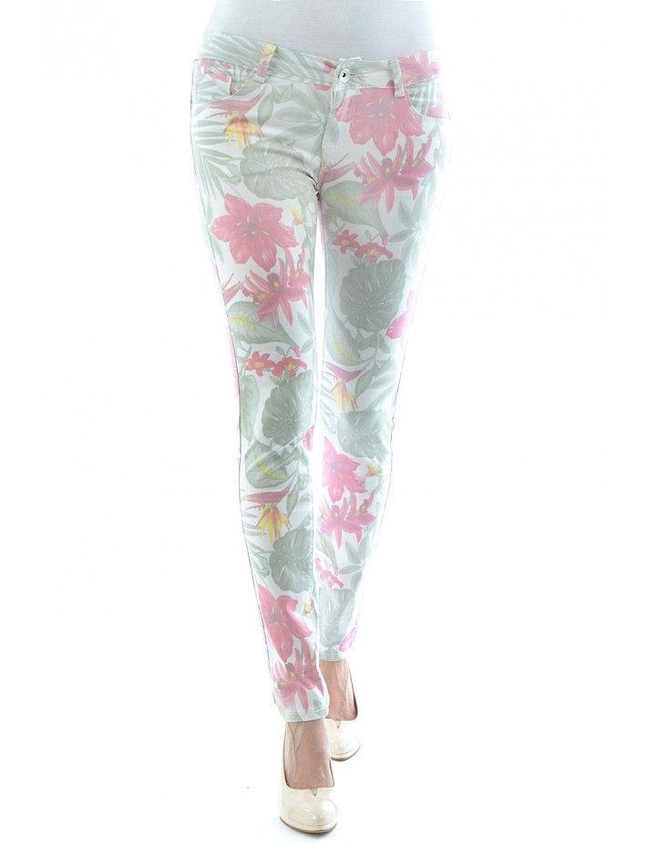 Fascinujúce dámske nohavice v obľúbenom strihu s dizajnom kvetín a listov. Nohavice Flowers sú z príjemného mäkkého materiálu - ideálny spoločník pre nákupné maniačky. Kráčaj s dobou aj ty!
