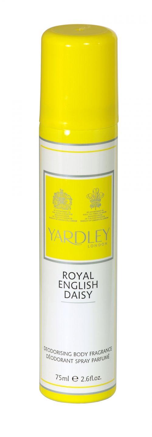 Yardley deodorising body fragrance 75ml royal english daisy