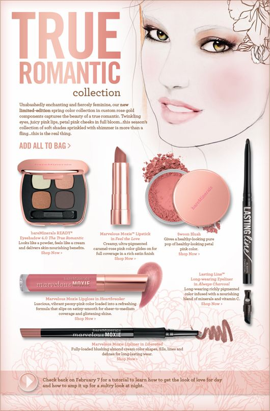 Leigh Viner + Bare Minerals True Romantic collection  ~ Limited Edition #beauty