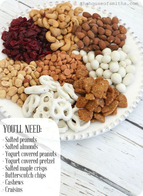 15 Homemade trail mix recipes for Fall/ Autumn