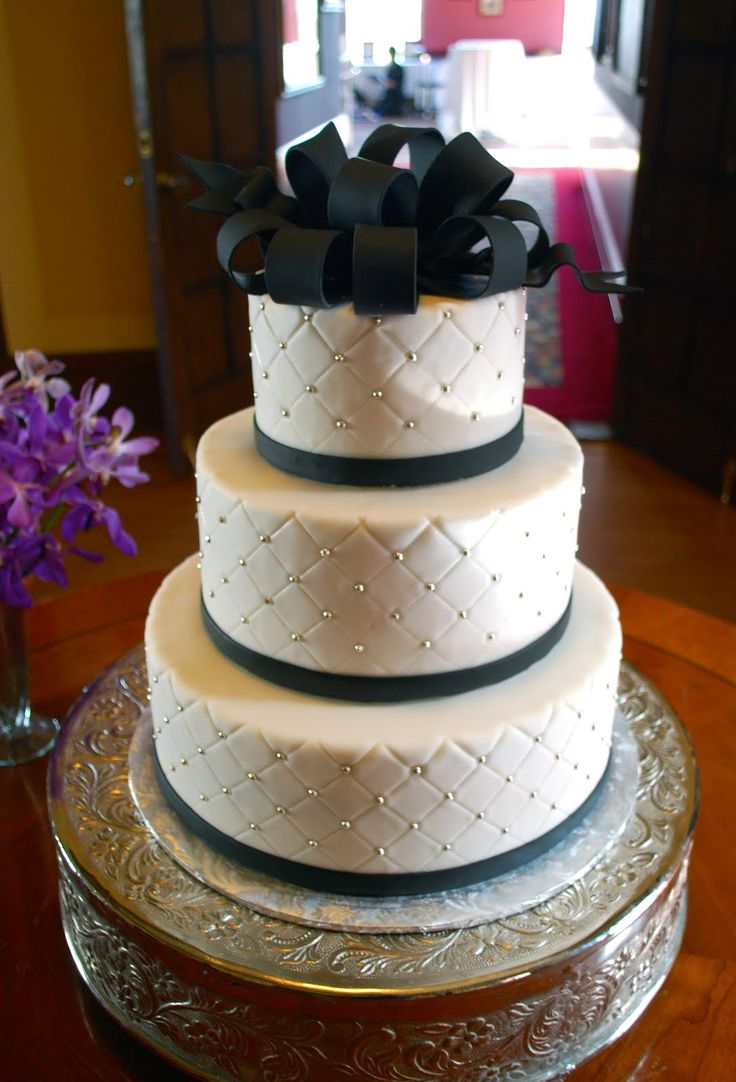 Quilted Wedding Cake, def need a different topper, but love the shimmer in the quilting