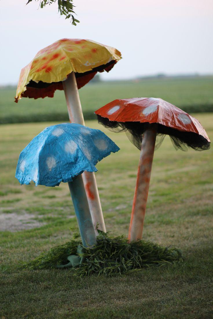 Fr. Dan's Mad Hatter Party diy mushrooms