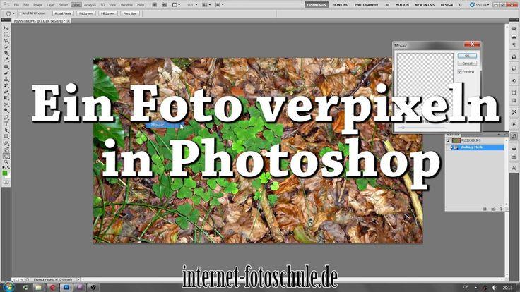 Ein Foto verpixeln in Adobe Photoshop mit dem Mosaic Filter