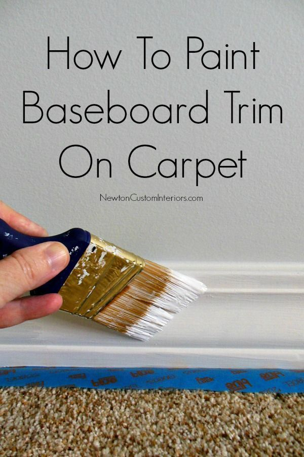 How To Paint Baseboard Trim On Carpet from NewtonCustomInteriors.com.   Learn how to paint baseboard trim on carpet with this detailed video tutorial.