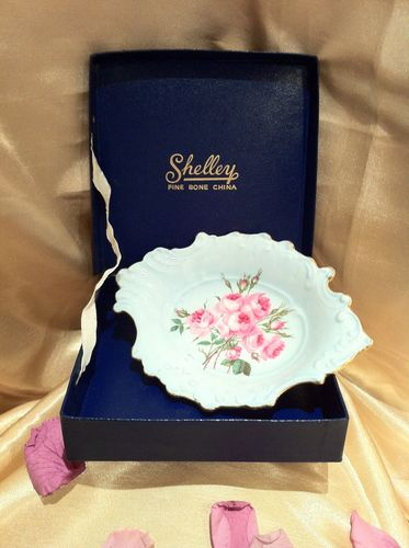 SHELLEY Blue Rose Trinket Dish (Boxed), $55.00 NZD
