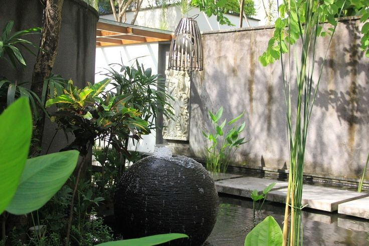 Create a theme around your water feature and use elements and materials to compliment it.  #bali #balilandscapecompany #balilandscaper #bestinbali #garden #gardendesign #gardenideas #gardeninspiration #grass #instagarden #landscape #landscapearchitect #landscapearchitecture #landscapedesign #landscapedesigner #landscapeideas #landscaping #landscapingideas #taman #thebalibible #tropical #tropicalgarden #tropicalgardendesign #tropicallandscape #gardenartworks #artworks #statues #waterfeature
