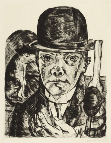 Max Beckmann: Self-Portrait in Bowler Hat, 1921