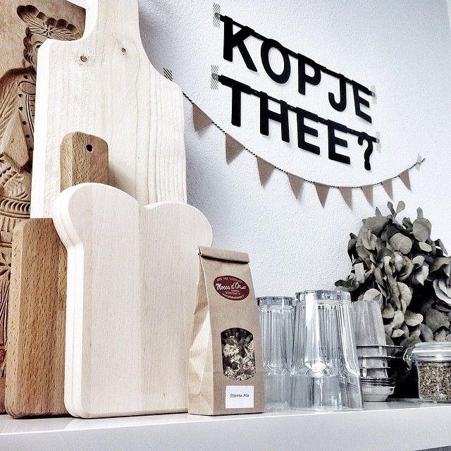 dit wil ik in mijn toekomstig huis. #Wordbanner #tip: Kopje #thee- Buy it at www.vanmariel.nl - € 11,95