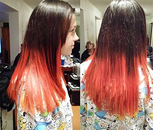 Orange Ombre, hairserenity