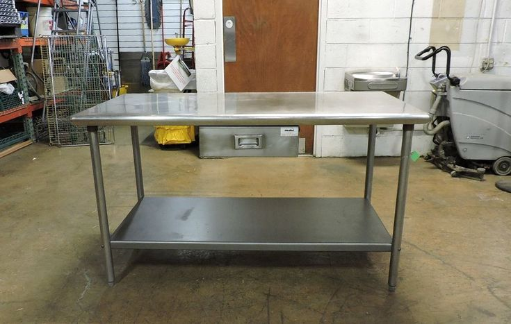 """Commercial Stainless Steel Work Table with Drawer and Undershelf - 60"""" x 30"""""""