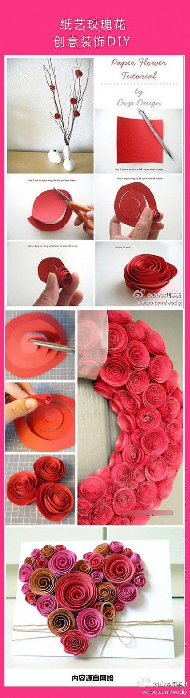 Leuk om zelf te maken | prachtige rozen van papier Door Heerschop
